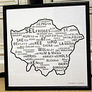 London Print with black frame