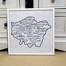 London Print with white frame