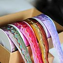 Wire Edged Two Tone Ribbon 25 Metre Roll