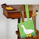 Fair Trade Goose Mini Shopping Bag