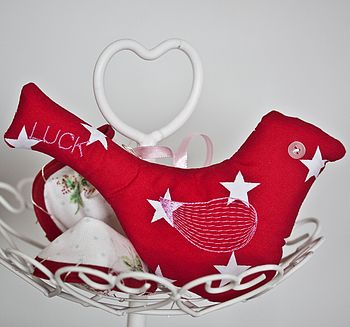 Personalised Fabric Hanging Bird Decoration