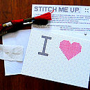 'I Heart…' Postcard Cross Stitch Kit