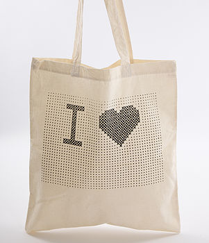'I Heart…' Tote Bag Cross Stitch Kit