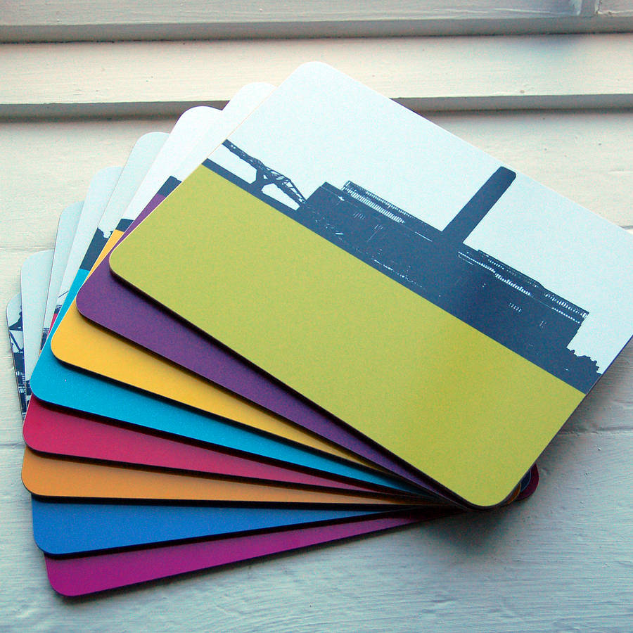 table mats and coasters. london table mats set and coasters b