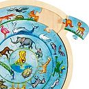 Wooden Circular Animal Jigsaw Puzzle
