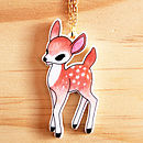 Woodland Fawn Charm Necklace