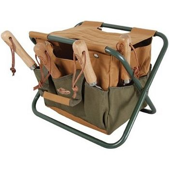 Folding Stool With Detachable Tool Trug