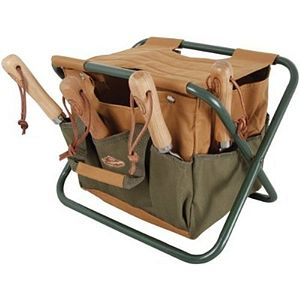 Folding Stool With Detachable Tool Trug - gifts for gardeners