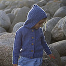 Girls Denim Merino Alpaca Hood Detail