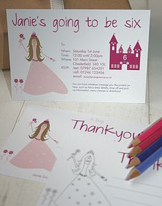 Princess Party Invites Or Thank You Notes - baby & child
