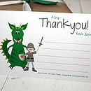 full colour dragon thank you note