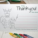 colour me in dragon thank you note