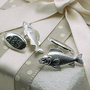 Fish Cufflinks - gifts for him