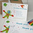 Space Alien Party Invites Or Thank You Notes