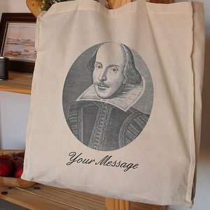 Personalised Tote Bag Shakespeare - shopper bags