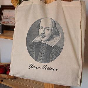 Personalised Tote Bag Shakespeare - bags & purses
