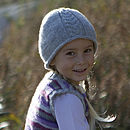 Merino Alpaca Cable Knitted Hat Silver-Grey
