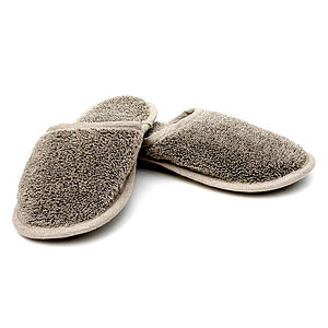 Natural Linen Flax Spa Slippers - lingerie & nightwear