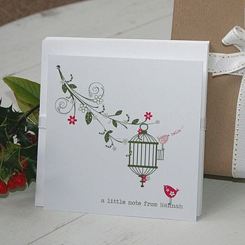 Eight Personalised Love Song Notecards