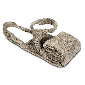 Natural Linen Flax Spa Back Scrub Towel - bathroom