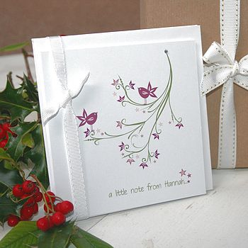 Eight Personalised Sweet Tweet Notecards