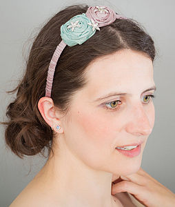 Double Silk Rose Hairband - hats, hairpieces & hair clips