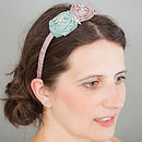 Double Silk Rose Hairband