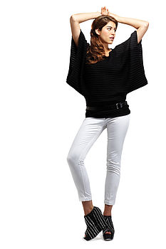 Black batwing jumper