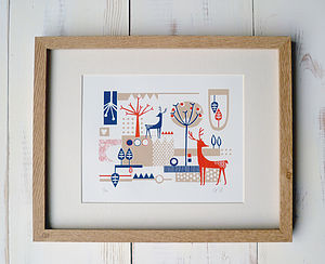 Stags Limited Edition Screen Print - prints
