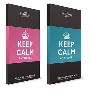 Keep Calm Personalised Chocolate Bar - cakes & treats