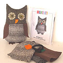 Make Your Own Tweedy Toots Owl Sewing Kit