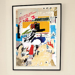 'Arles Decollage' Limited Edition Print - modern & abstract