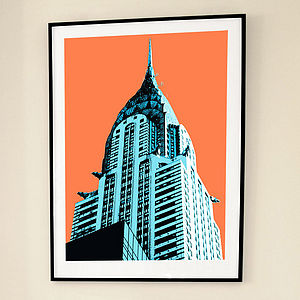 'Chrysler NY' Limited Edition Print - graphic art prints