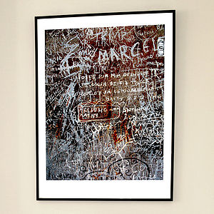'Signing-in Lisbon' Limited Edition Print - typography