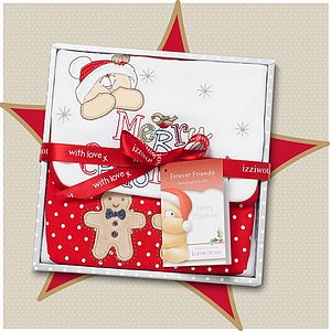 First Christmas Baby Snowflake Gift Set - christmas clothing & accessories