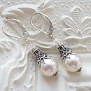 Filigree And Pearl Leverback Earrings
