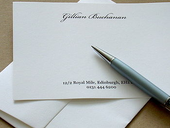 Personalised Correspondence Cards Style Two