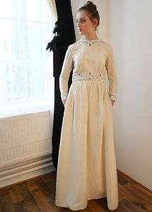 Vintage 1940s Silk And Beaded Wedding Dress