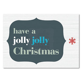 Pack Of Ten Personalised Jolly Xmas Cards