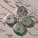 Personalised Tiny Silver Circle Charms