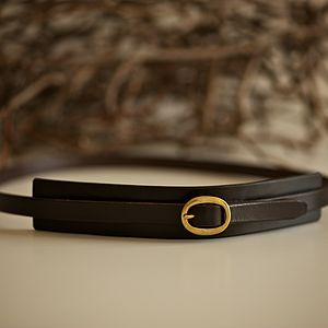 Leather Waist Belt - womens