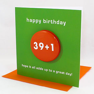 Special Age Badge Birthday Card - cards