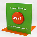 Special Age Badge Birthday Card