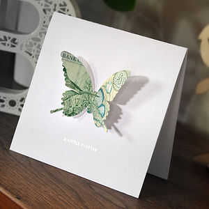 'A Little Flutter' Money Butterfly Card