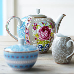 Floral Shabby Chic Teapot By PiP Studio - kitchen