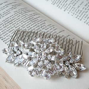 Vintage Style Rhinestone Hair Comb - wedding fashion
