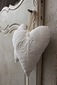 Monogrammed Lavender Filled Heart - decorative accessories