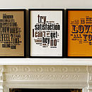 1960'S Letterpress Music Prints Collection