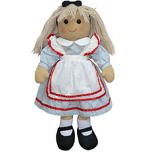 Alice In Wonderland Rag Doll - soft toys & dolls