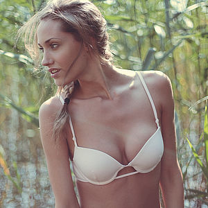 Organic Cotton Love Underwire Padded Bra - women's fashion